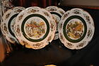 WOOD and SONS Vintage Ascot Decorative Wall Plates 4 Olde English Village Scenes
