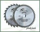 Set of Two (2) Blades 136mm x 20/16mm  x 48T and 24T Wood Cutting Blade