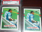 1989 Topps Traded Barry Sanders ROOKIE CARD LOT of 2 PSA 9 + UNGRADED RC LIONS