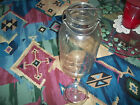 Vintage Hazel Atlas CLEAR GLASS Half Gallon Canning Jar with Glass Lid