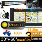 315 180W LED Light Bar Work Flood Spot Offroad Driving Lamp 4x4 4WD 12V 24V