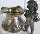 Antique Toothpick Holder VICTORIAN MERIDEN SILVER PLATED SP FIGURAL CHILD NO 43