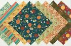 QM Red Rooster Cotton Glow QM045 Floral Charm Pack 40 Quilt Fabric 5