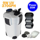 Goplus 100 Gal External Aquarium 4-Stage Canister Filter + UV Sterilizer HW-303B