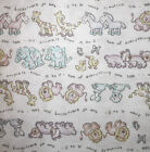 1 YD Two of Everything You See A to Z Cotton Flannel + Satin Fabric Baby Blanket