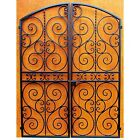 Iron Wine Cellar Double Door - Scalloped Scroll - Heavy Duty. 60