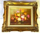 ROBERT COX, ORIGINAL OIL FLORAL, Signed on Canvas W/Frame. Flawless Condition