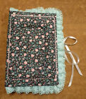 VINTAGE HANDMADE Fabric & Lace COVERED PHOTO ALBUM BOOK    (144)