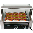 Commercial 24 Hot Dog Hotdog 9 Roller Grill Cooker Machine W/ cover