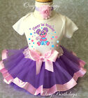 Abby Cadabby Lavender Pink Baby Girl 1st First Birthday Tutu Outfit Shirt Set