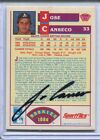 JSA Authentic Signed 1986 Sportflics Rookie Jose Canseco Auto
