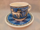 Vintage Greek Demitasse Cup with Saucer Espresso Coffee Ancient Greece Scene