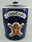 Starbucks Sberna Deruta Italy Hand-Painted Cookie Jar Snowman Gingerbread Man