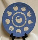 Wedgwood Jasperware 1969 - 1978 Tenth 10th Anniversary Christmas Blue Plate