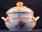 HEREND CHINESE BOUQUET RUST,SOUP TUREEN WITH LARGE ROSE LID END,MINT CONDITION