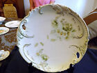 Vintage Plate Light Green Accent with White Flower Decor 11