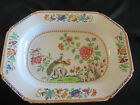 SPODE STONE CHINA PLATTER #2, EARLY 1800s, SCALLOP EDGED