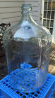 Vintage Large 5 Gallon CRISA Mexico Glass Jug for Water, Wine, Beer - Blue Tint