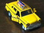 NYC New York City Old Yellow Checker Taxi Cab 1/43 Scale Diecast Metal *NICE*