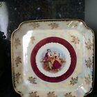 Gorgeous Vintage Lustreware Victorian China Platter with Couple MTK TOHKI JAPAN
