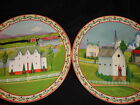 JIM SHORE~BARNYARD~SET OF 2 DINNER PLATES~NEW