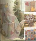 Rag Quilt Throws and Pillows PATTERN~M3901~Americana Stars/Hearts