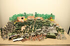 Vintage Plastic Toy Soldiers Army Men Tanks Jeeps Terrain Trucks, Lot of 299