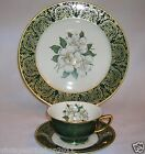 Stunning Royal Cathay China LAUREL MAGNOLIA 3 Piece Service Set Plate Teacup
