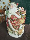 Fitz and Floyd Winter Holiday Santa Toys Cookie Jar in Box BEAUTIFUL!