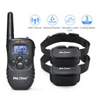 Petrainer Dog Training Shock Collar with Remote Rechargeable E Collar for 2 Dogs