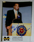 TOMMY AMAKER MICHIGAN BASKETBALL COACH Signed Autographed 4X6 PHOTO NCAA
