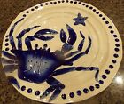 BLUE SKY CERAMIC CLAYWORKS~MAGIC SEA~BLUE CRAB~14