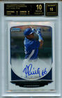 2013 Bowman Chrome Yasiel Puig SP Auto Autograph BGS 10 10 Black Label