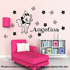 Disney wall sticker Disney Marie Cat Personalised name sticker Girl room decal