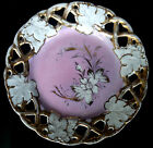 Lace & Leaf Porcelain Dish - Pink, White and Gold Trim Floral - Made in Germany