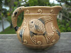 Hand Painted Creamer Decorated With Fish and Fish Handle 4