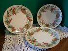 Restoration Hardware Festive Berry and Leaf Garland Salad Plate 8 in Set of 3