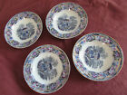 Victorian 4  pottery english Staffordshire pottery dishes bowls chinese pattern