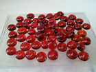 1/2 pound RED colored glass gems(flat marbles) by JABO