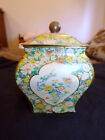 Vintage Tin Box with Floral and Butterfly Decor Holland