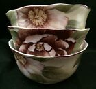 3- 222 Fifth Chloe Cream Rose Floral Soup Cereal Bowls