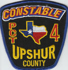 Upshur County Texas Constable Pct 4 Police Patch (A10-2)