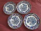 Victorian pottery 4 english staffordshire pottery plates chinese pattern