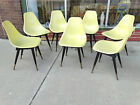 Fiberglass Shell chair with wood base  legs Vintage Mid century 7 available