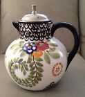 1912 - 1928 Schramberg Villeroy & Boch Germany Hand Painted Teapot 6.5