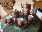 Antique Vintage Coffee set cups and saucers porcelain made in Czechoslovakia 8pc