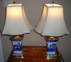 Spode Table Lamps (2) Blue Tower