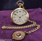 Serviced~1920s Tavannes Swiss~51mm Gold Filled Pocket Watch w/Chain