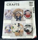 McCalls Crafts 8664 Seasonal Wreath Patriotic Basket New Baby Door Pattern Uncut