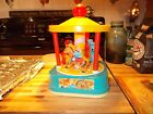 Vintage Wind Up Chicco Merry-Go-Round Carousel Mickey Mouse Song Music Italy